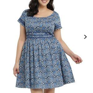 Doctor Who Noveau Tardis Print Dress